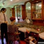 صالون الحلاقة قديما - متحف سويسرا المفتوح